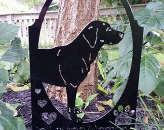 In Loving Memory Labrador Sign