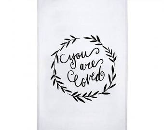 Tea Towel - 12 Pieces - You are loved - Gift Bride, Bridesmaid, Host, Family Members