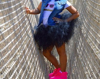 Black Tutu, Princess Tutu, Birthday Tutu, Girls Tutu, Girls Skirt, Tutu Skirt