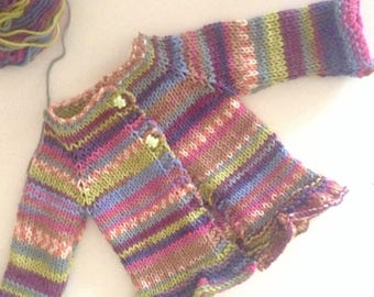 Sweater for baby girl-multi-Merino Wool Baby-ready to ship
