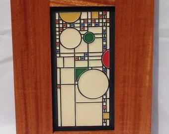 Frame, Arts and Craft Frame, Frank Lloyd Wright, Motawi Tile, Mission Style Frame, Craftsman Frame, African Mahogany, Picture frame