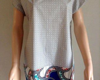 38/40/42 wax cotton tunic and matching printed dress
