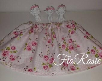 Summer skirt, skirt with roses