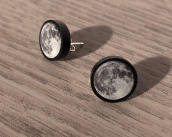Full Moon Ear Studs