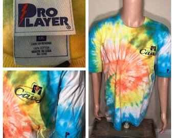 Rare // Cleveland Cavaliers tshirt // Vintage Cavs tie dye shirt // embroidered logo // 90s basketball // adult size XXL //