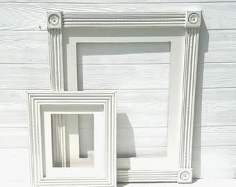 Wedding Picture Frame- Rustic Picture Frame,  16x20 Fram Antique White Frame-Distressed Picture Frame- Shabby Chic Frame