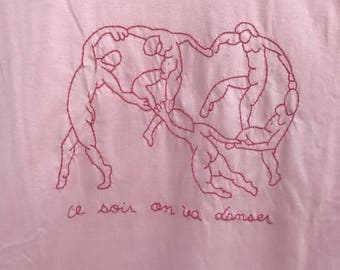 Finally, we dance - inspired henri matisse - pink oversized t-shirt