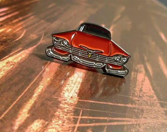 Plymouth Fury Pin, Horror Accessories, Soft Enamel Lapel Pin
