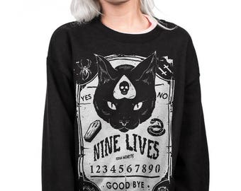 nine lives - crewneck sweatshirt