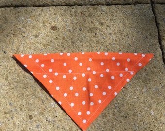 Small Sized Orange Polka Dot Dog/Cat bandanna!