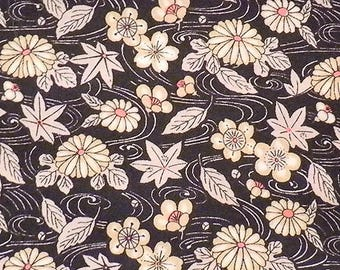 Neutral colored Asian floral print.