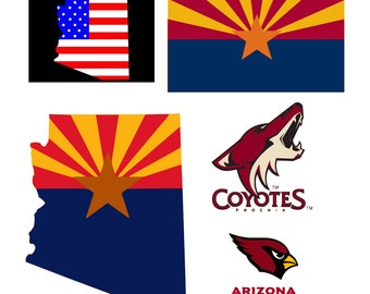 Arizona svg State svg patriotic svg 4 th of july svg Arizona Cardinals svg Arizona Coyotes svg svg files for Cricut Silhouette