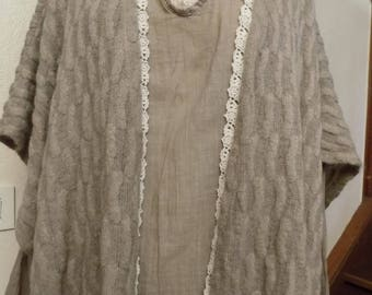 All shirt in cotton and cashmere and wool vest