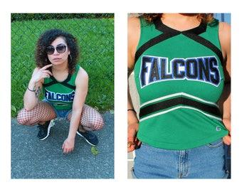 Vintage 90s Green Falcons Cheerleader Tank Top