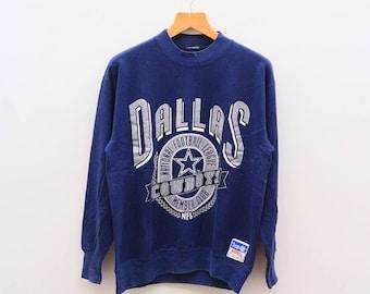 Vintage DALLAS COWBOY National Football League NFL Member Club Blue Sweater Sweatshirt