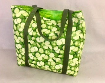 Plenty of Limes- Functional, Multiple Use, Fully Lined Cotton Tote Bags