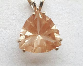 3 carat, Oregon Sunstone Pendant, .925