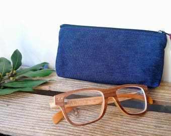 glasses case - organic cotton - made in France - handmade - artisanal manufacturing - ecofriendly - organic - COUTURE polka dots