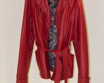 SOPHIE MODE faux leater jacket