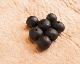 Wood Carved Beads, Mali Ebony Wood Beads, African Wooden Beads