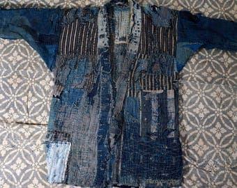 SOLD ALREADY - Japanese 'Grunge' - Noragi Boro kimono antique Edo era