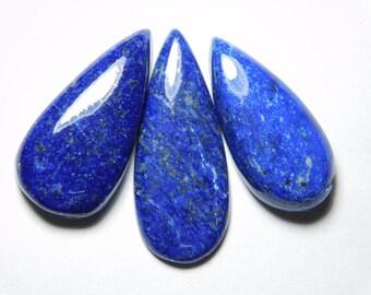 3 pce Lot Natural Lapis Lazuli Gemstone Lapis Lazuli Loose stone Blue lapis lazuli cabochon Amazing Qualiyt Gemstone 57  cts