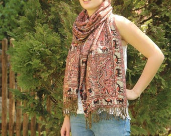 Scarf Shawls  Cashmere / Wool hippie boho long scarf ladies  It is super soft and super long
