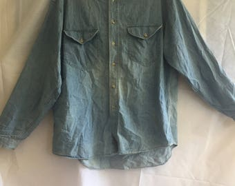 Light Blue Denim Dress Shirt