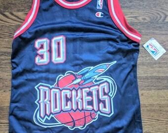 Kenny Smith Vintage Champion Jersey 40 NWT NBA Houston Rockets