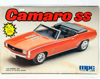 Vintage MPC 1969 '69 Chevy Camaro SS 1/25 Scale Model Car Kit 6283