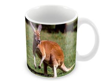 Kangaroo  Ceramic Coffee Mug    Free Personalisation