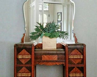 Art Deco Waterfall Vanity Dressing Table Dresser