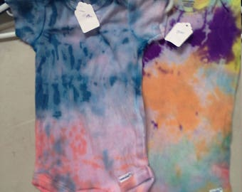Set of 2 tie dyed onesies size 3/9 month