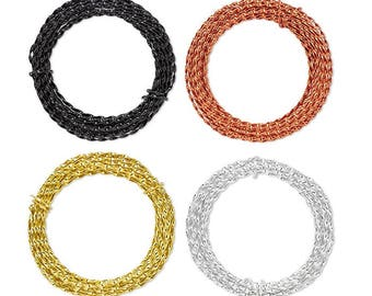 Twisted Wire anodized aluminum 16 gauge 3mm 10 meters / 10.9 yards. Anodized aluminum wire twisted 3mm 16 gauge 10.9 yards / 10 meters.