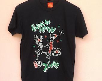 Rare Design Kishidenne Wrerutogood Punk Designer Merry Xmas Size S Made In Kisarazu