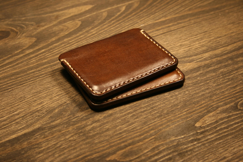 Pocket Slim Wallet, Leather Business Card Holder, Leather Minimalist ...