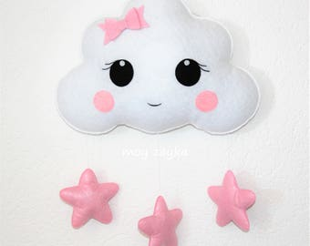 Cloud baby girl decor