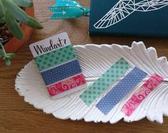 Washi tape sample teal pattern 3 x 1m