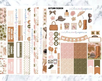 Autumn Fashion // Weekly Planner Stickers // Erin Condren