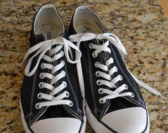 Vintage Converse Mens  Shoes Black 10