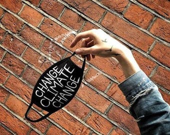 mask, art mask, fashion, fashion mask, mask: CHANGE CLIMATE CHANGE