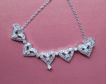 Sterling SIlver Heart and Flower Necklace - Two Looks
