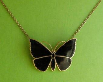 Vintage Butterfly Necklace - Moderne