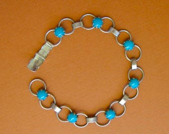 Vintage Sterling Silver and Turquoise Braclet