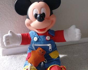 Vtg. Mickey Mouse Dress Me Doll