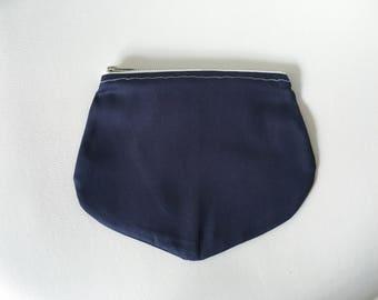 Plain Jane Navy zip pouch
