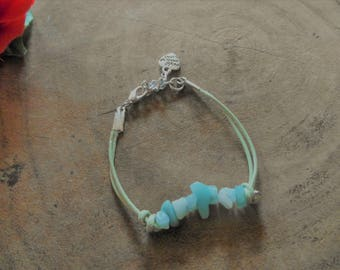 Bracelet with Rhinestones and candle rope
