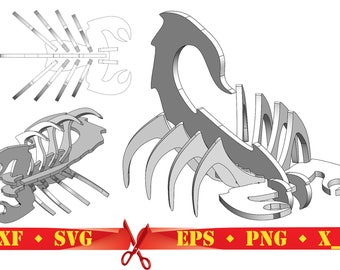 Scorpion 3D Puzzle Digital Download CNC Cutting Files