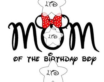 Minnie Mom Of The Birthday Boy Iron On Transfer