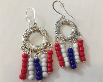 Fourth of July, patriotic, red white and blue, handcrafted airings